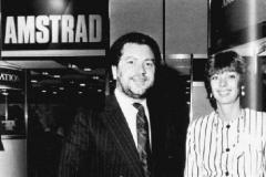 Alan Sugar et Marion Vannier, PDG d'Amstrad France