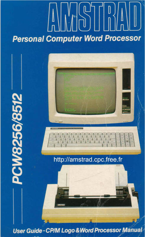PCW8256-8512 User Guide AMSOFT