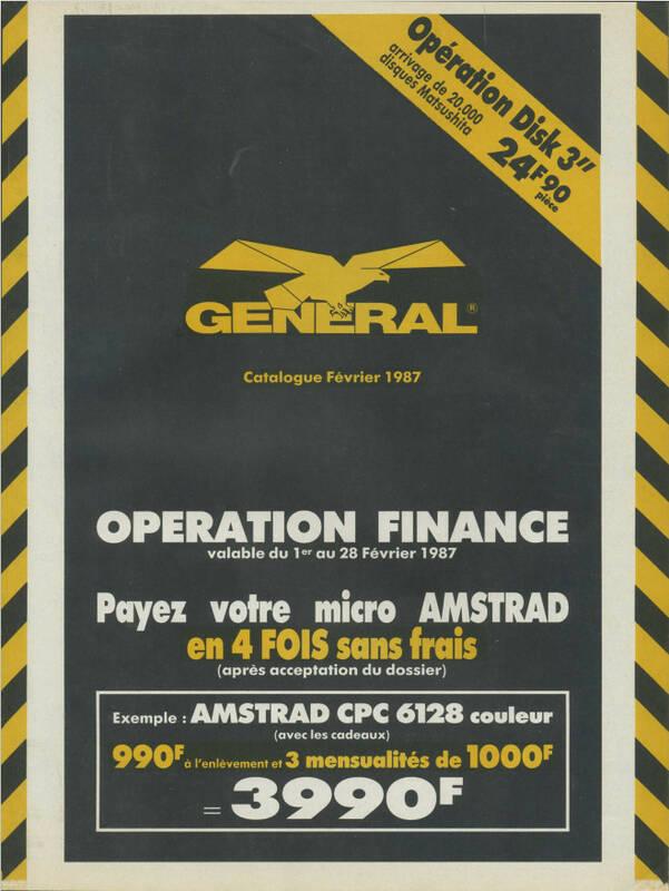 Catalogue GENERAL (février 1987)