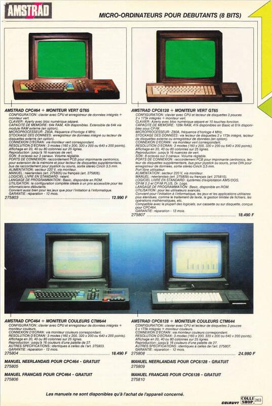 Catalogue Collishop Belgique 1989