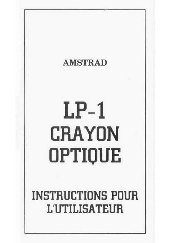 LP-1 Crayon optique Instruction pour l'utilisateur